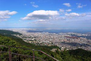 摩耶山掬星台からの昼の眺望